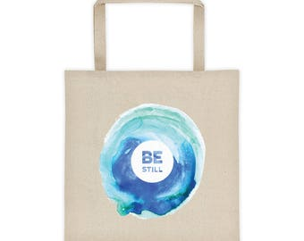 Be Still Watercolor Artwork on Canvas Tote Bag