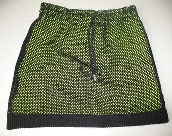 Double layered net skirt