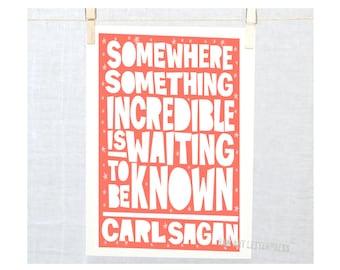 Science Quote,  Dorm Room, Classroom Decor, Nursery Art Boy, Girl Nursery Art, Carl Sagan
