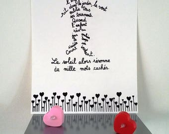 quote poster. poster illustrated by hand