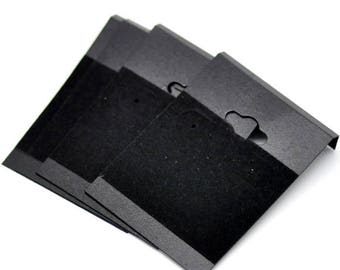 AU34 - Set of 10 display brackets for black plastic earrings