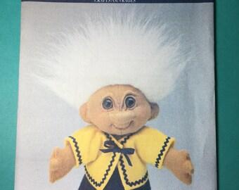 Vintage Butterick Pattern 6438 - Norfin Troll Doll