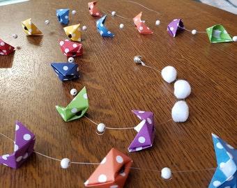 Origami boats Garland