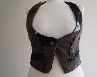 recycled/upcycled waistcoat