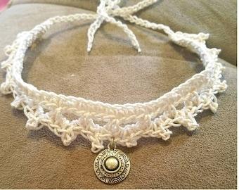 Hand Crocheted Choker Necklace