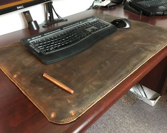 Full grain leather desk pad/desk cover/blotter/desk mat