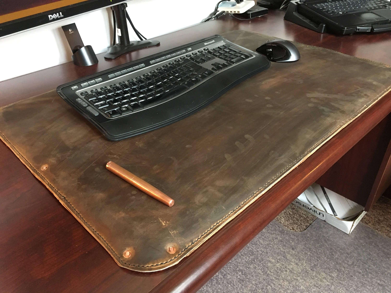 Full Grain Leather Desk Pad Desk Cover Blotter Desk Mat