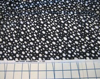 5 Yds Black with white polka-dots sheer chiffon