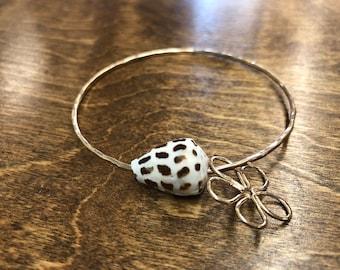 Hebrew shell bangle