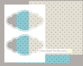 Label Two - Large - Digital Transparent Overlay Template