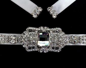 Crystal Bridal Sash, Art Deco Bridal Belt, Gatsby Wedding Sash, Geometric Dress Jewelry, Statement Wedding Belt, Swarovski Belt, DECORA