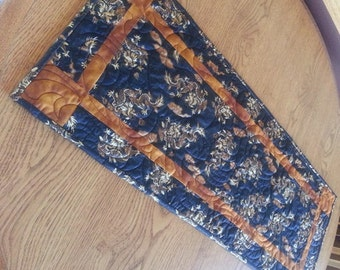 Dragons Quilted Table Runner, Oriental Quilted Table Runner, Asian Table Runner, Free US Shipping