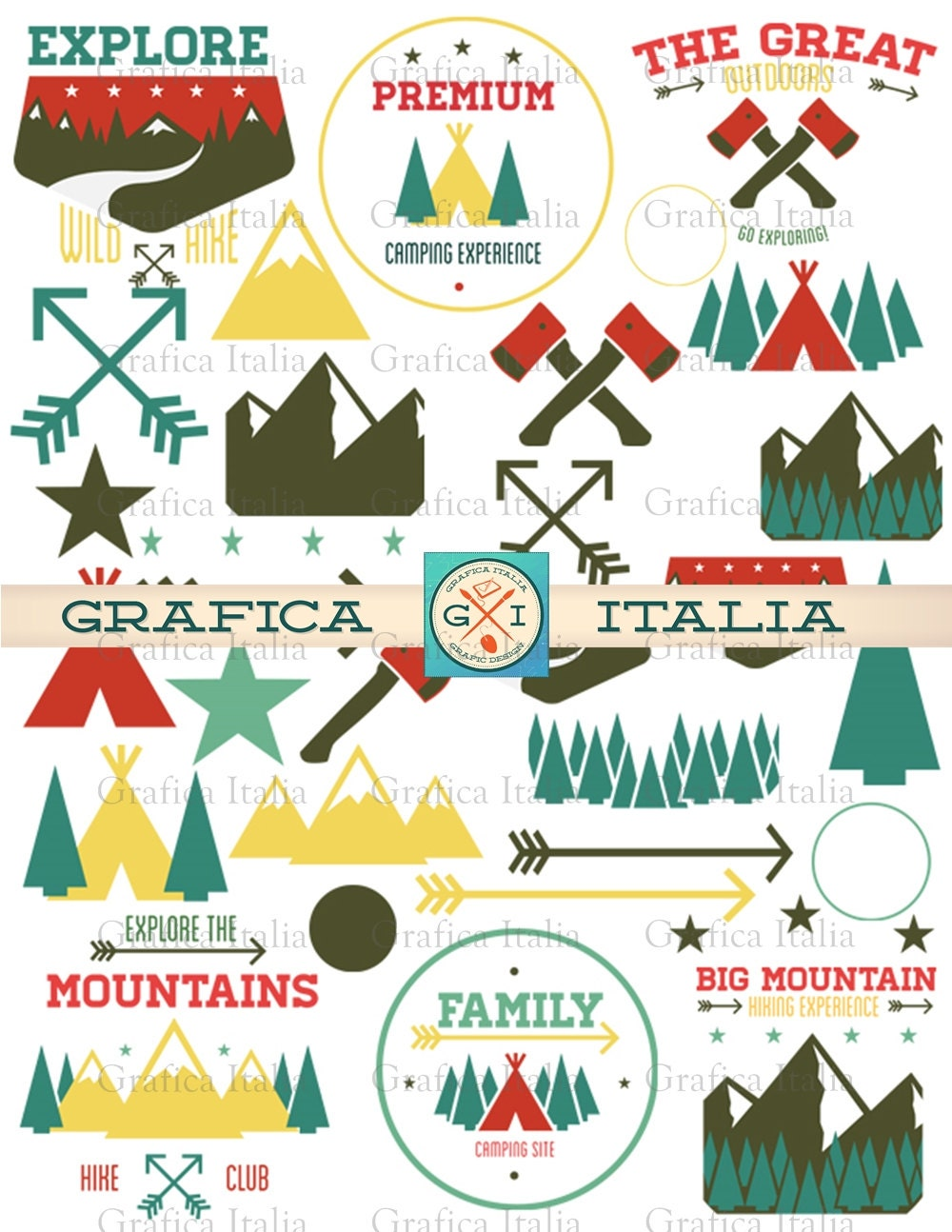 Camping ClipArt Cabin Design Elements Outdoors Clip Art