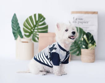 Oh! Basic Jacket Shirt / Denim Camou Striped