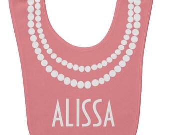 Custom Pearl Necklace Bib