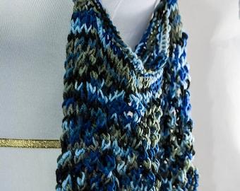 Hand knitted reusable bag, produce bag, hand knit, hand knitted, washable, reusable bag, recycle, tote bag