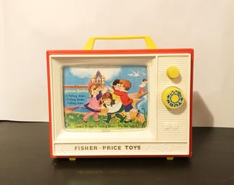 Vintage Fisher Price Two Tunes TV Music Box
