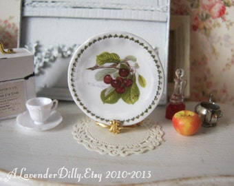 Pomona Cherry Dollhouse Plate