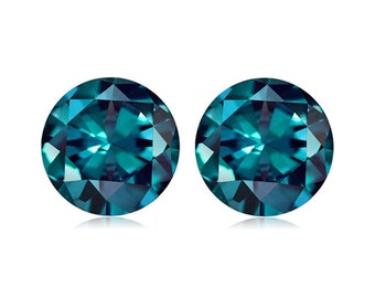 1.15-1.71 Cts of 5 mm AAA Round ( 2 pcs ) Loose Russian Lab Created Alexandrite Gemstone-382284