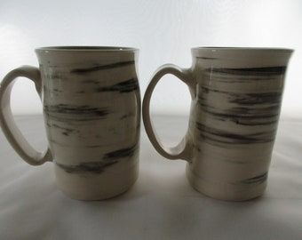 Two White Birch Mugs