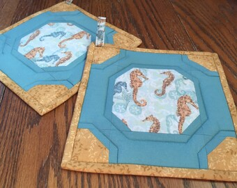 Seahorse Potholders