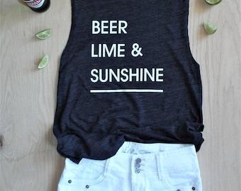 Beer Lime & Sunshine / Women's Flowy Muscle Tank