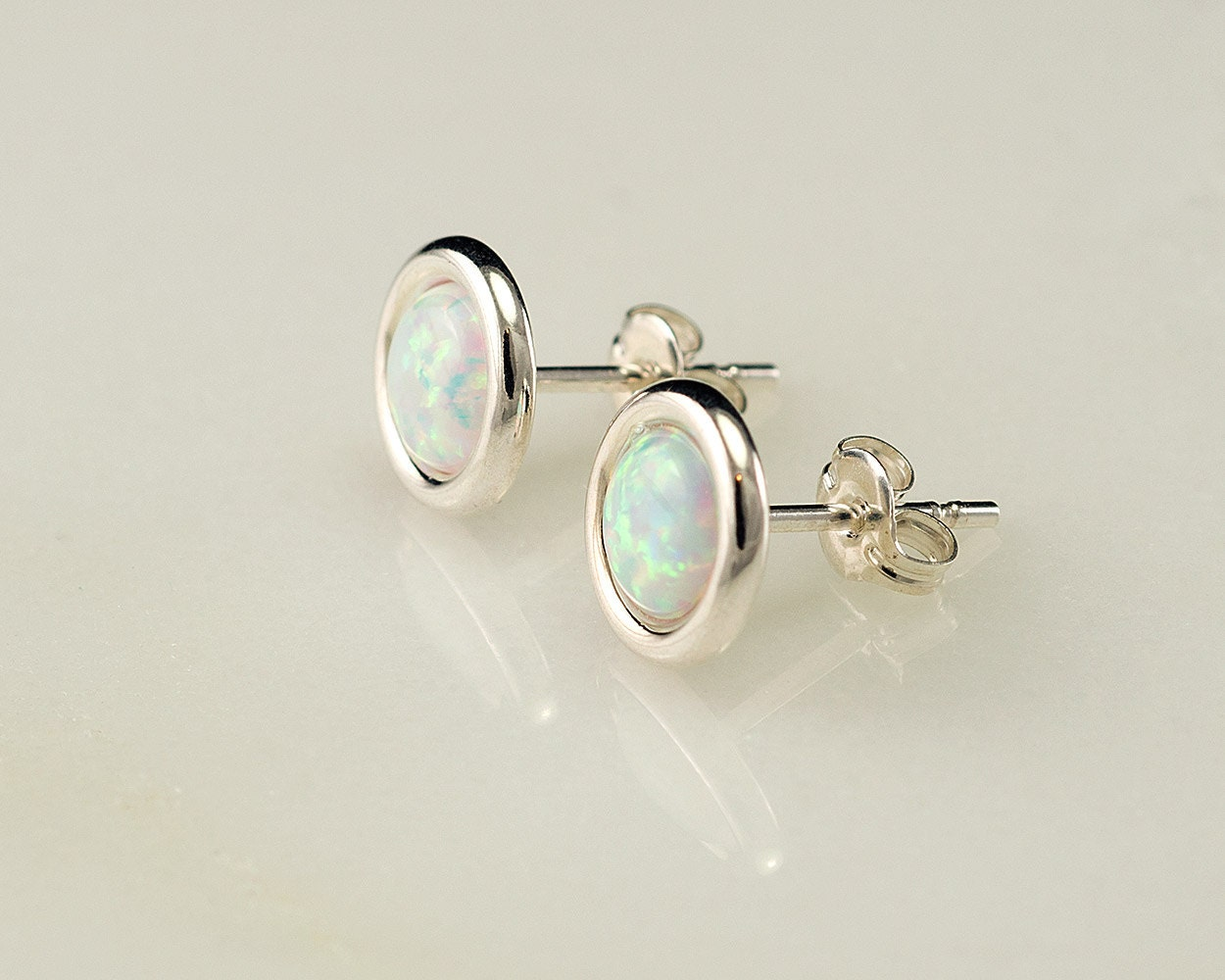genuine black real stud opal earrings semi jewelry flashopal studs yellow oval gold