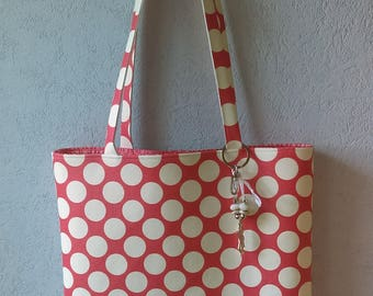 Tote bag in faux leather