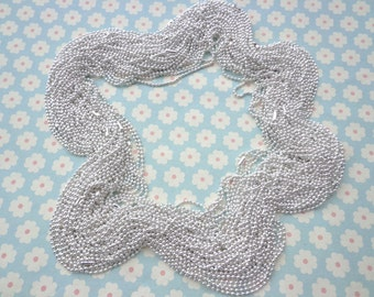 50 pcs Silver Plated  Ball Chain Necklaces -65cm, 2.0mm