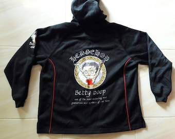 Vintage Betty Boop Hoodie Jacket embroidered
