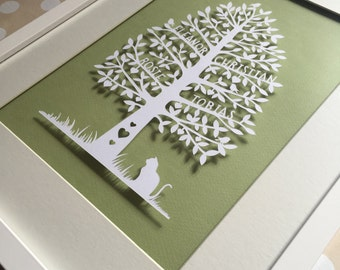 Family Tree - Papercut (by hand)