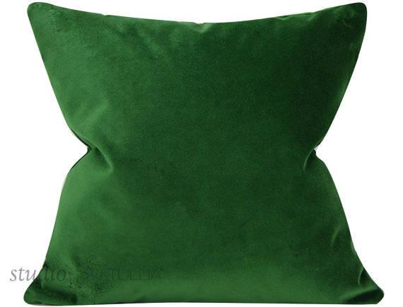 meraude housse de coussin velours vert 20 x 20 velours de. Black Bedroom Furniture Sets. Home Design Ideas