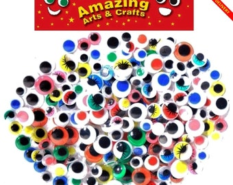 200 Wiggle Wiggly Googly Eyes Assorted Types and Sizes