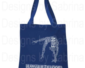 GYMNASTICS TOTE BAG-Beam-Tote Bag-Gymnast Tote Bag-Beam Tote Bag-Canvas Tote Bag-Gymnastics Gift-Coach Gift-Gymnast-Gymnastics-Gym Bag