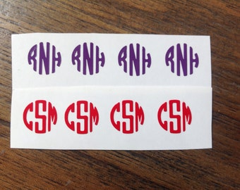 Fitbit Monogram Decals Set of 4 Personalized Fitbit Stickers Monogram Decal Stickers
