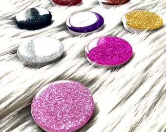 Glitter Pop Socket Diamond Bling Rhinestone Sparkle Popsocket Collapsible Grip & Stand Selfie Holder for Phones and Tablets iPhone Samsung