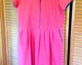 Vintage 90's Bubble Gum Pink Day Dress size Large