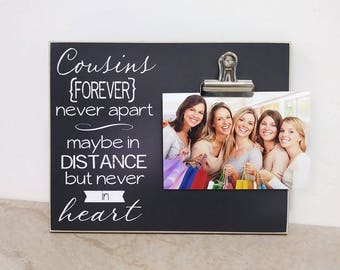 Cousins Gift Picture Frame, Cousins Photo Frame, COUSINS Forever, Christmas Gift For Cousins, Moving Away Gift, Cousins Gift, Gift For Her