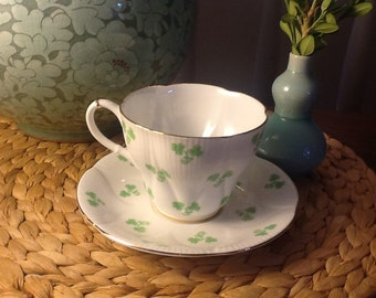 Vintage Royal Albert Bone China Teacup and Saucer Shamrock Pattern