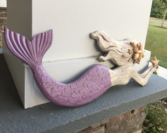Mermaid/Beach Decor/ Mermaid Wall Decor/ Beach / Beach Decor/ Natuical/ Nursery/ Beach Hanging/ Girls Room/ Coastal Beach Decor