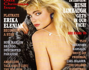 Vintage Playboy Magazine December 1993 with Erika Eleniak, Northwestern Exposure, Rush Limbaugh, Branford Marsalis, Sex Stars 1993