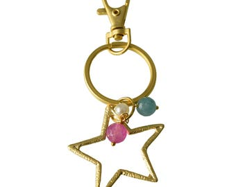 Keychain with Star