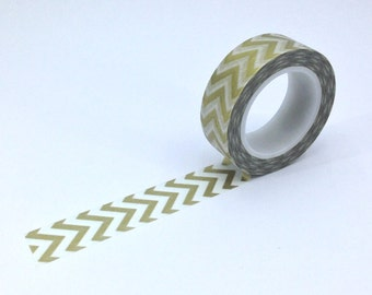 Gold Chevron Washi; Masking Tape; Decorative Tape; Japanese Tape; Filofaxing; Planner; Erin Condren; Kawaii Stationery; Cute Stationery
