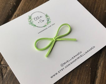 Apple green suede - Brynlee Bow