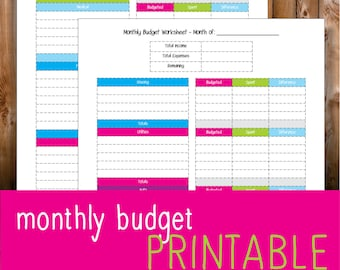 monthly budget worksheet for creatives