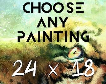 18 x 24 Print - Any A2 Print - 18x24 Print - A2 Art Print - 18x24 Poster Painting - A2 Poster Print - Large Wall Art - Large Print