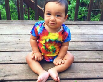 Tie Dye Baby Onesie + FREE SOCKS