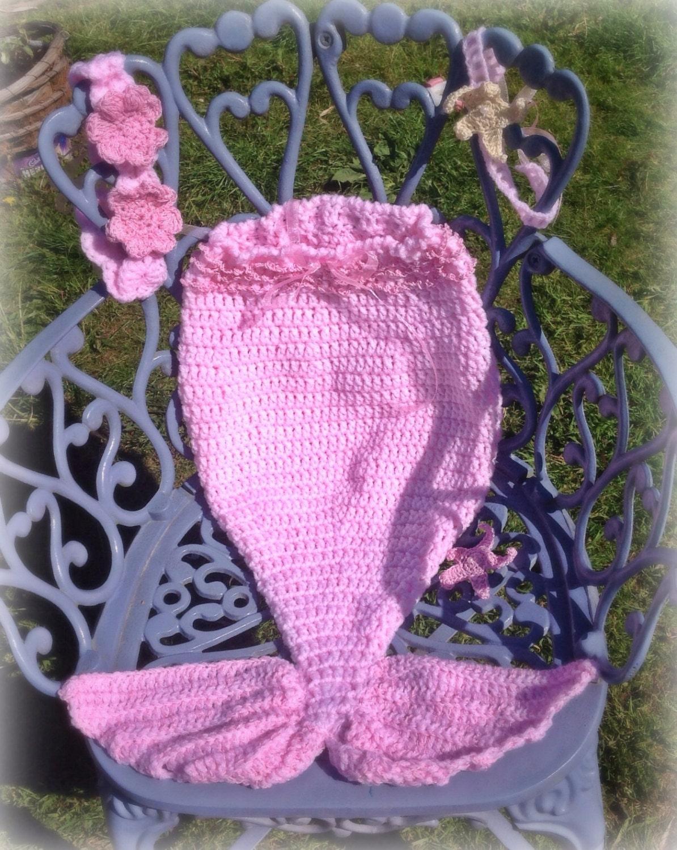 Dorable Baby Meerjungfrau Kostüm Häkelmuster Inspiration - Decke ...