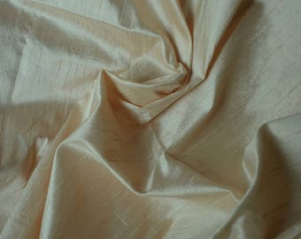 Silk Dupioni in Rose Vanilla colour, Extra wide 54 inches Half Yard, DEX 203