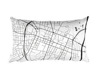 Fayetteville Pillow, Fayetteville Decor, Fayetteville Cushion, Fayetteville Throw Pillow, Gift, Fayetteville NC Map, Fayetteville Art, Throw